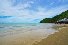 Пляж в Pran Buri, Таиланде стоковые изображения rf