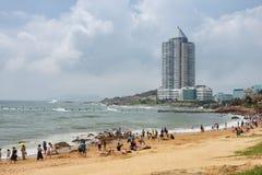 Пляж в Qingdao стоковая фотография