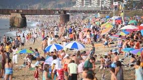Пляж в Vina Del Mar видеоматериал