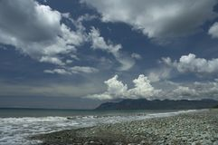 Пляж голубого камня Стоковые Фотографии RF