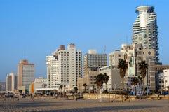 Пляж города Tel Aviv белый Стоковое фото RF