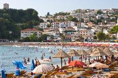 Пляж городка Ulcinj стоковое фото rf