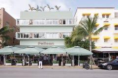 Пляж гостиницы пеликана южный Стоковая Фотография RF