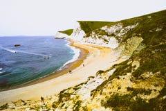 Пляж двери Durdle стоковое изображение rf
