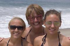 пляж довольно Стоковое фото RF