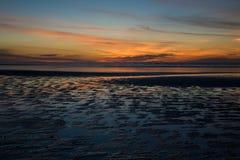 пляж заход солнца 80 миль Стоковое Изображение