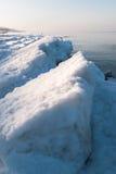 Пляж зимы Балтийского моря Стоковое Фото