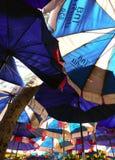 Пляж зонтиков Стоковое Изображение