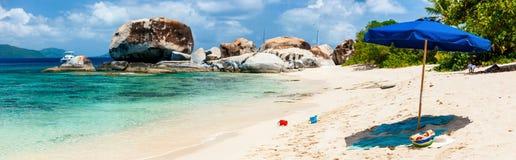 Пляж изображения совершенный на Вест-Инди стоковое фото rf