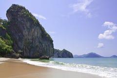 пляж имел trang yao Таиланда провинции Стоковое Изображение