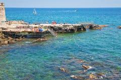 пляж Италия syracuse урбанский стоковое фото rf