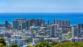 Пляж и Гонолулу Waikiki стоковые фото