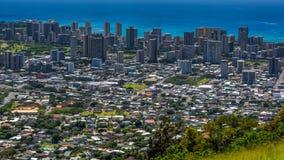 Пляж и Гонолулу Waikiki стоковые фотографии rf