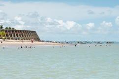 Пляж и гостиница Tambau, Joao Pessoa Бразилия стоковые изображения