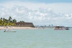 Пляж и гостиница Tambau, Joao Pessoa Бразилия стоковое изображение