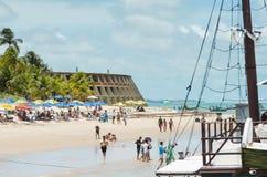 Пляж и гостиница Tambau, Joao Pessoa Бразилия стоковые изображения rf