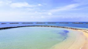 Пляж и море стоковые фотографии rf