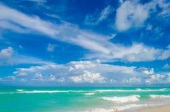 Пляж и океан Майами тропические Стоковое Изображение RF