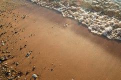 Пляж и прибой моря с движением Стоковые Изображения