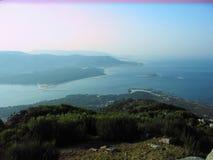 Пляж и тропические взгляды в Torrox, Испании Стоковое Фото