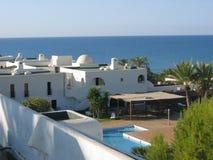Пляж и тропические взгляды в Torrox, Испании Стоковое Изображение
