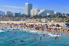 Пляж Калифорния Санта-Моника Стоковые Изображения RF