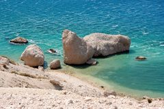 пляж каменистый Стоковые Фотографии RF