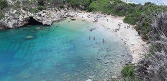 Пляж Корфу, Порту Timoni Afionas Стоковая Фотография RF