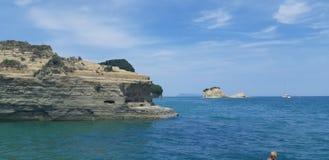 Пляж Корфу, Порту Timoni Afionas Стоковые Фото