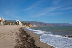Пляж Коста de AlmerÃa Roquetas Del Mar, AndalucÃa Испания Стоковая Фотография