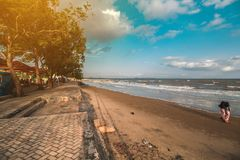 пляж красивейший Стоковое Изображение