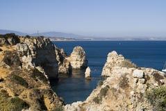 пляж красивейший lagos Португалия algarve Стоковое Изображение RF