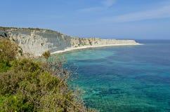 пляж красивейший malta Стоковое фото RF