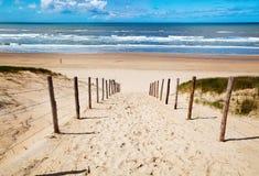 пляж к путю Стоковая Фотография