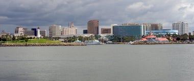 пляж к центру города длиной Стоковые Фото