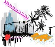пляж к иллюстрация вектора