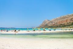 Пляж лагуны Balos на Крите стоковые фотографии rf