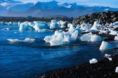 Пляж льда в Исландии стоковые фотографии rf