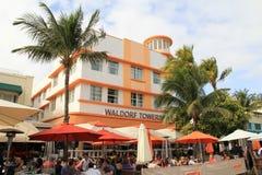 Пляж Майами стиль Арт Деко южный стоковая фотография rf