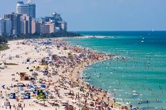 Пляж Майами южный Стоковая Фотография RF