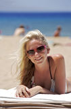 пляж малыша Стоковые Изображения