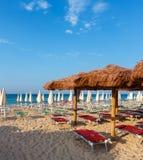 Пляж Мальдивы Salento, Pescoluse, Апулия, Италия Стоковое Изображение