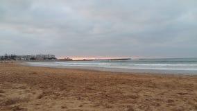 Пляж Марокко Mohammedia стоковое фото