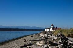 Пляж маяка западного пункта стоковое изображение rf