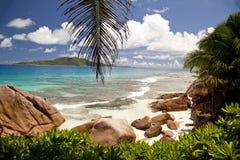 пляж мечт Сейшельские островы Стоковые Изображения RF
