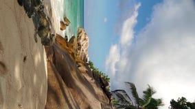 Пляж моря, Сейшельские островы сток-видео