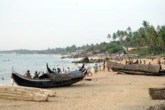 Пляж моря Kovalam, в Керале, Индия стоковые фото