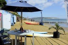 Пляж надежды, Sandown, остров Уайт стоковая фотография