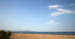 пляж над взглядом Стоковые Фото