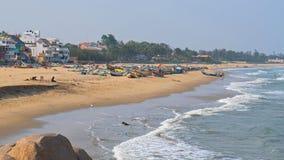 Пляж на заливе Бенгалии стоковые изображения rf